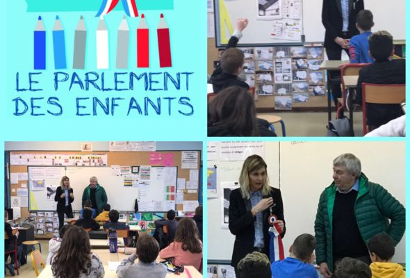 Jonzier-Epagny / visite dans la classe de CM2 sélectionnée pour le Parlement des enfants