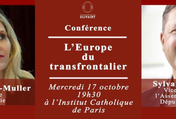 Conférence Olivaint sur l'Europe du transfrontalier