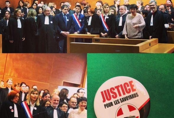 A Thonon aux côtés des magistrats, greffiers et avocats contre le projet de nouvelle carte judiciaire