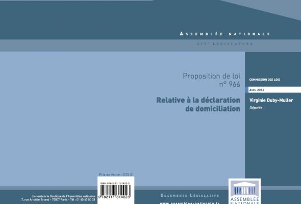 Proposition de loi relative à la déclaration de domicile