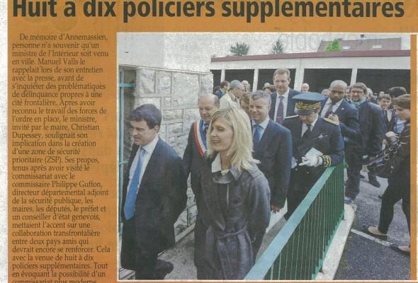 Huit à dix policiers supplémentaires (LM)