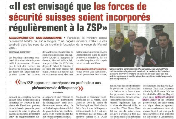 Visite du Ministre Manuel VALLS (Hebdo74)