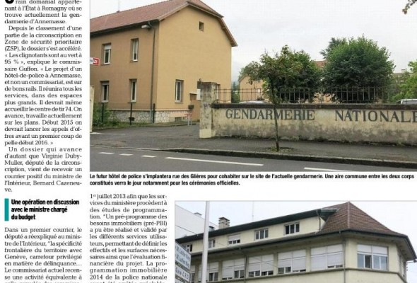 La construction du nouvel hôtel de police