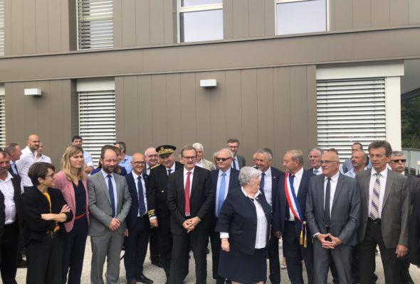 Poisy / Inauguration des locaux du Syane en présence de J. Gourault, Ministre de la Cohésion des territoires et des Relations avec les collectivités territoriales