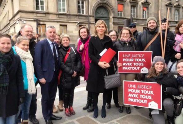 Avec Martial Saddier pour soutenir les avocats du barreau de Bonneville et de Thonon-les-Bains