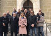 Challonges / inauguration des travaux d'aménagement de la sortie de Challonges et chemin du Félaz
