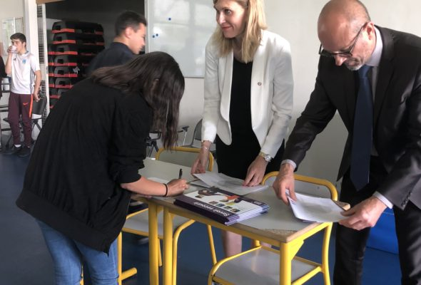 Saint-Julien-en-Genevois / remise des «Savoir secourir» aux élèves de 4ème du collège A. Rimbaud