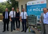 """Visite du chantier du Bâtiment d'Extension du CHAL """"Le Môle"""""""