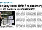 V. Duby-Muller fidèle à sa circonscription malgré ses nouvelles responsabilités (DL)