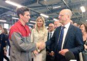 Cluses / visite du Ministre de l'Education nationale au LP Paul Béchet