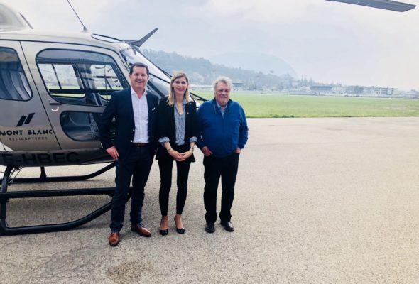 Annemasse / visite du groupe HBG hélicoptères