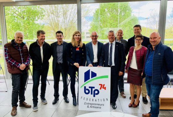 Chavanod / réunion avec le BTP 74