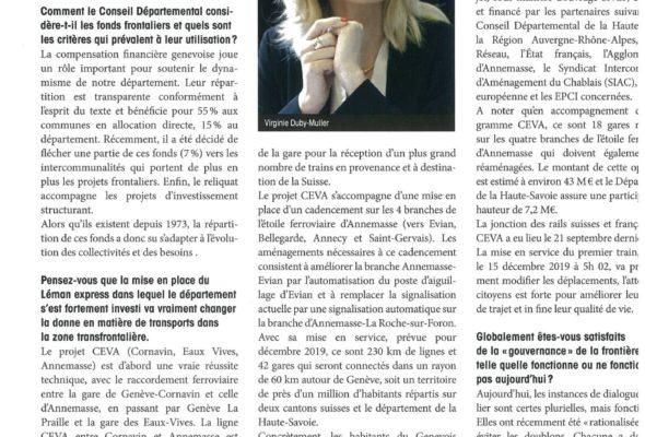Interview sur le phénomène frontalier (Eco Savoie Mont-Blanc)