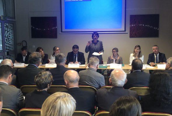 La Roche-sur-Foron / réunion de l'ANEM (Association nationale des élus de la montagne) en présence d'Annie Genevard