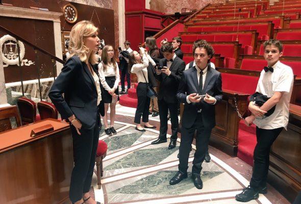 Visite des collégiens du collège Arthur Rimbaud