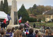 Clermont-en-Genevois / cérémonie de commémoration du 11 novembre