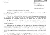 Cosignature d'un courrier de Julien Aubert à Bruno Le Maire sur la concurrence déloyale envers les photographes
