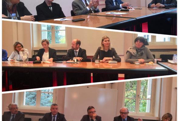 Réunion d'échange et d'information associant parlementaires de Haute-Savoie et membres de l'Exécutif Départemental du Conseil départemental