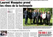 Laurent Wauquiez prend les rênes de la technopole (DL)