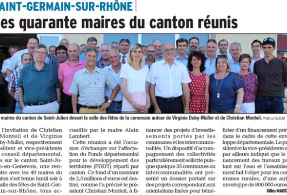 Réunion des maires du canton de St-Julien-en-Genevois à St-Germain-sur-Rhône
