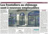 Les frontaliers au chômage sont à nouveau employables (LM)