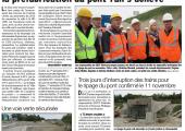St-Julien / chantier de l'entrée ouest : la préfabrication du pont-rail s'achève (DL)