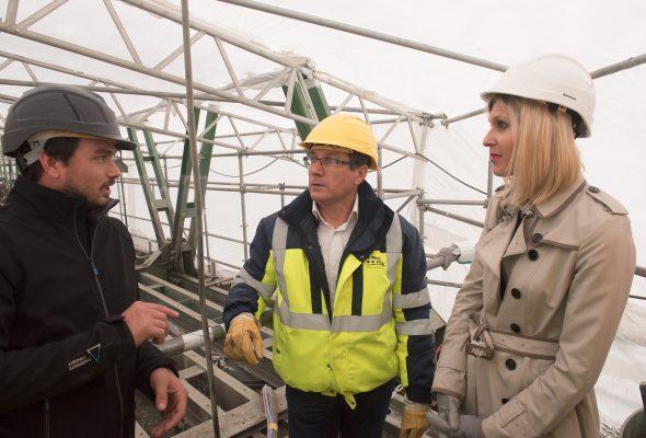 Visite du chantier du Pont de Pyrimont