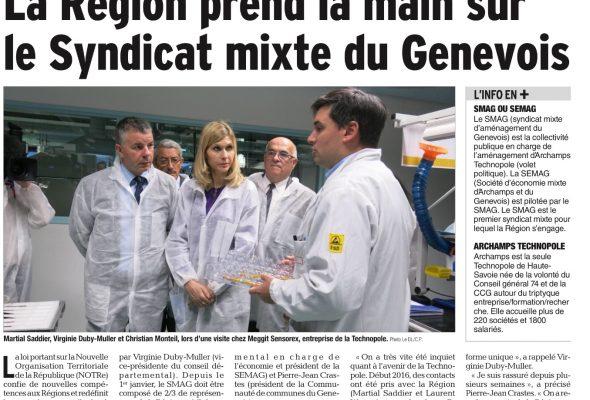 La Région prend la main sur le syndicat mixte du Genevois (DL)