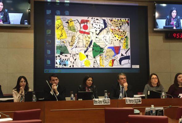 Audition d'Anne Hidalgo sur la candidature de la ville de Paris aux Jeux olympiques et paralympiques de 2024.
