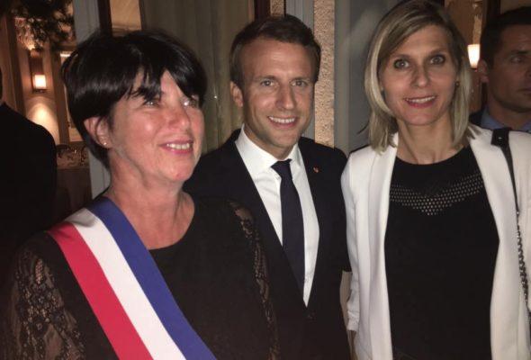 Accueil républicain du Président de la République à Evian