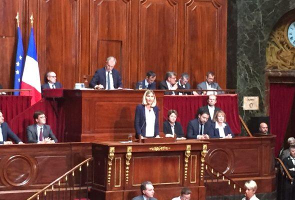 Intervention de V. Duby-Muller à Versailles devant le Parlement réuni en Congrès au nom du groupe Les Républicains de l'Assemblée nationale