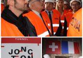 Jonction des tunnels français et suisse du CEVA
