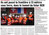 Le CEVA, colonne vertébrale du futur Léman Express, Réseau ferré regional, avance dans le temps (DL)