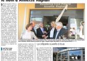 VLG / La résidence Villa Magna porte désormais le nom d'Annette Kaplun (DL)