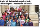 Les Cm1/Cm2 de l'école F. Dolto ont visité l'Assemblée nationale (DL)