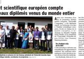Archamps / l'Institut scientifique européen compte 18 nouveaux diplômés venus du monde entier (DL)