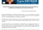 PLF 2017 / V. Duby-Muller nommée rapporteur pour avis sur les crédits de la presse