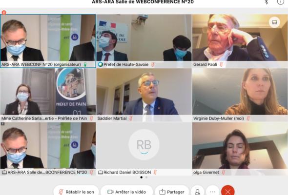Réunion organisée par l'ARS sur la convention sanitaire franco-suisse en matière de santé