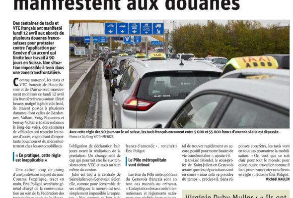 Les taxis français à bout manifestent aux douanes (DL)