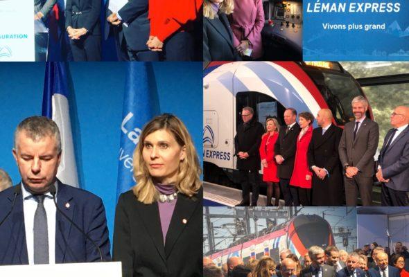 Grande fierté d'assister aujourd'hui au voyage inaugural du Léman express depuis La Roche-sur-Foron en direction des Eaux-Vives : une révolution en termes de mobilité pour tout le Grand Genève.