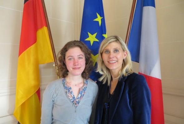 Une stagiaire allemande rejoint l'équipe parlementaire