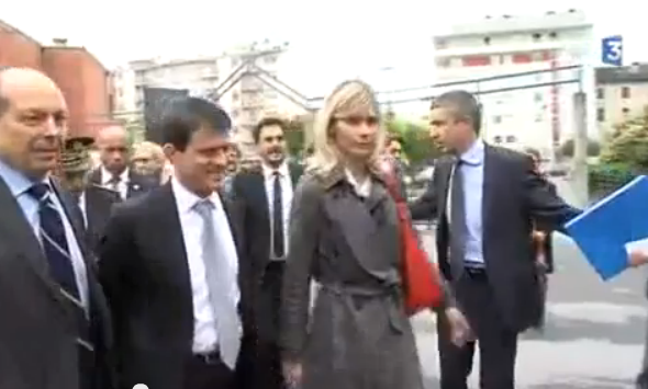 Manuel VALLS à Annemasse (reportages télévisés)