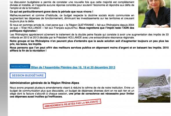 UDC INFOS : Bilan de l'Assemblée Plénière des 18, 19 et 20 décembre 2013
