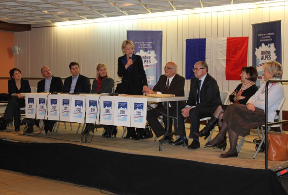Réunion avec Françoise GROSSETETE et les élus UDC à la région