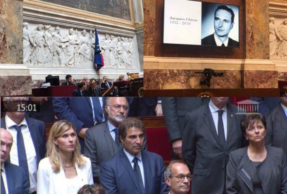 Hommage à Jacques Chirac à l'Assemblée nationale