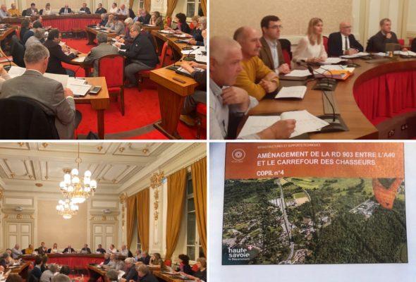 Annecy / réunions au conseil départemental
