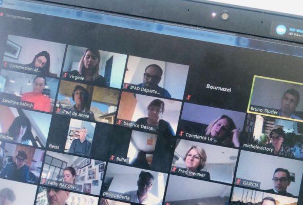 Réunion de la commission culture – éducation en video-conférence