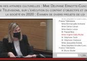 Questions à Delphine Ernotte, présidente de France Télévisions sur le traitement des infos et Culture prime