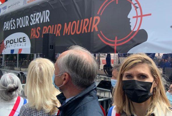 🏛🇫🇷Présente mercredi aux côtés des forces de l'ordre pour la manifestation de soutien