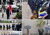👮♂️🇫🇷 Annemasse / Cérémonie départementale organisée à la mémoire des policiers morts pour la France et hommage au commandant de police Eric MASSON mortellement blessé par balles le 5 mai 2021 en opération de police alors qu'il procédait au contrôle d'un trafiquant de produits stupéfiants.
